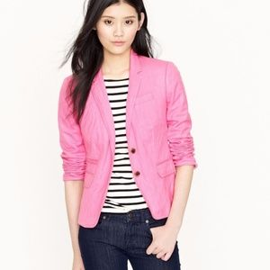 J.Crew Pink School Boy Blazer Career Jacket